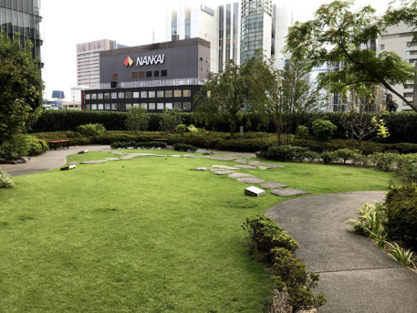 歌舞伎座の屋上庭園