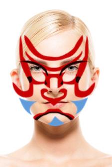 歌舞伎カメラで撮影した隈取顔