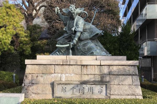 九代目・市川團十郎の「暫の像」