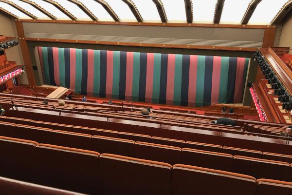 歌舞伎座一幕見席最前列からの眺め