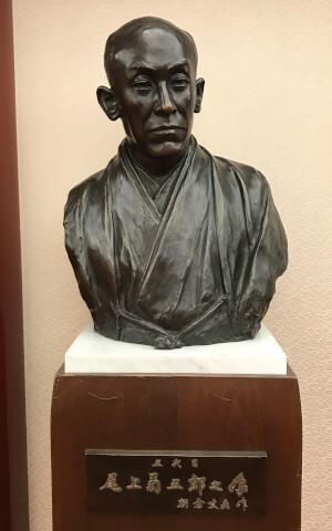 五代目尾上菊五郎の像