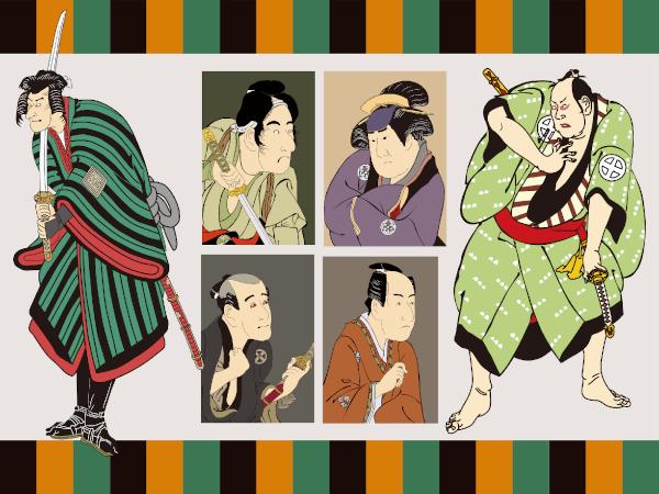江戸時代の歌舞伎役者達