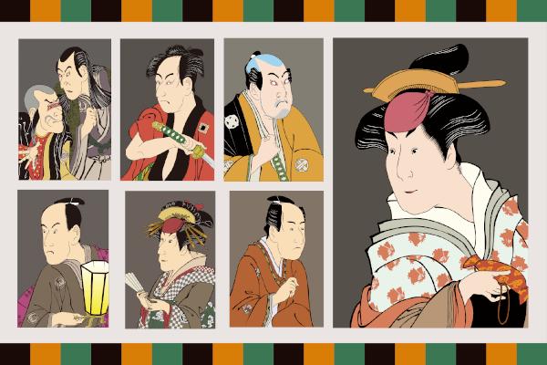 寿曽我対面には歌舞伎の典型的な役柄が勢揃い